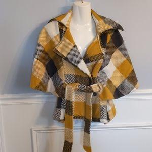 Anthropologie Cartonnier cape style coat